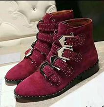 Fashion Boots Women Round Toe Rivet Flower Boots Susanna Studded Genuine Leather Ankle Boots Women Botines Luxury Botas Mujer 41 prova perfetto punk style women ankle boots special two kinds of wear rivet studded martin boots lace up genuine leather botas