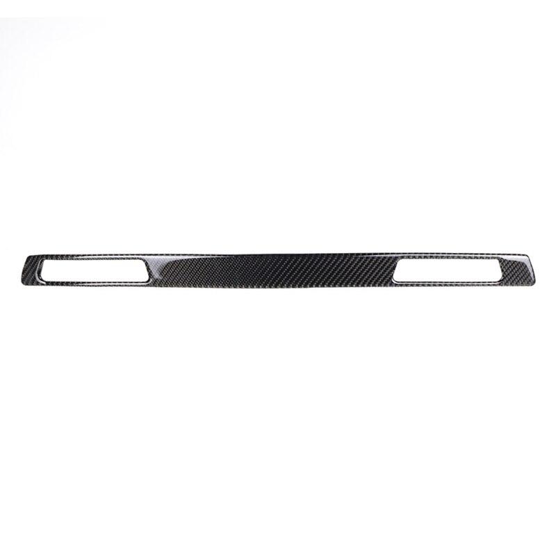 For Bmw E90 E92 E93 Interior Trim Carbon Fiber Copilot Cup Holder Panel Decor Cover Moulding 3 Series Lhd Rhd