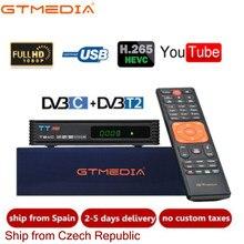 Dvb t2 gtmedia tt pro DVB-C DVB-T2/t tunner tv combinado receptor terrestre suporte h.265 europa espanha itália tv decodificador