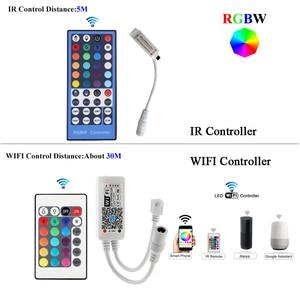 Image 3 - WIFI RGB LED RGBW Controller IR รีโมทคอนโทรลแบตเตอรี่สำหรับ DC 12V RGB 2835 5050 LED Strip โมดูลไฟ LED light