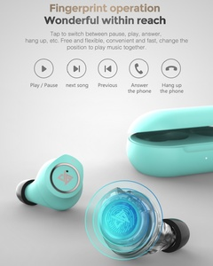 Image 4 - Newest AUGLAMOUR AT200 TWS True Wireless Earbuds Bluetooth 5.0 Touch Control Earphone IPX5 Waterproof Noise Reduction Headset