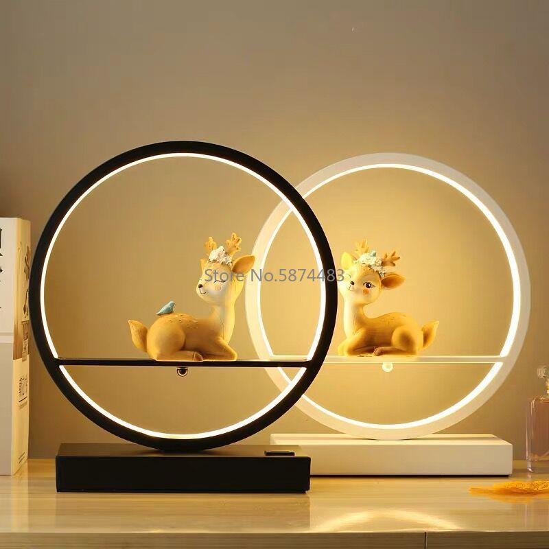 Table Lamp Bedroom Bedside Lamp Desk Study Dormitory Eye Protection Night Light Retro Living Room Decorative Table Lamp Desk Lights Home Lighting 8ecdde6db90a376d7ab2a4: A B C D E F G H I