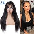 Queenlife бразильские человеческие волосы, волнистые, Remy, прямые, на кружеве, человеческие волосы, парики 13x4 13x6, кружево предварительно выщипанн...