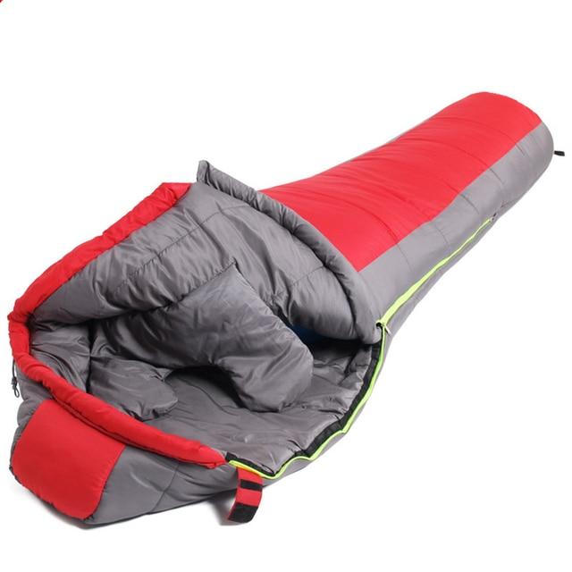 Mummy Sleeping Bag  Cotton Ultralight Outdoor Hiking Climbing Sleeping Bag Splicing Thickened Thermal Heated Sleep Bag in Winter 1