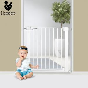 Adjustable Baby Safety Door Gate Pet Dog Cat Fence Stair Door Metal High Strength Iron Gate For Kids Safety