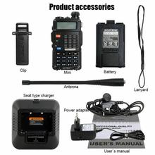 Baofeng 7W BF-F8HP Walkie Talkie VHF/UHF Dual Band Dual Display Portable CB Ham Radio Station Amateur Police Scanner Radio(China)