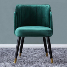 2pcs/lot Luxury dining chair home back chair modern living room bedroom dressing chair nail makeup chair leisure armchair