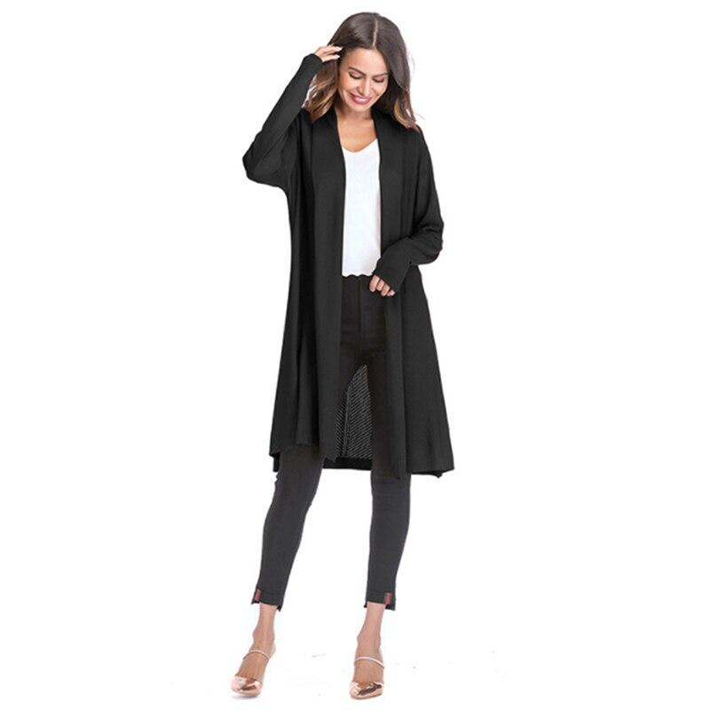 Длинный Повседневный Кардиган, свитера для женщин, Ажурные вязаные летние трикотажные изделия, женские кардиганы с v-образным вырезом для