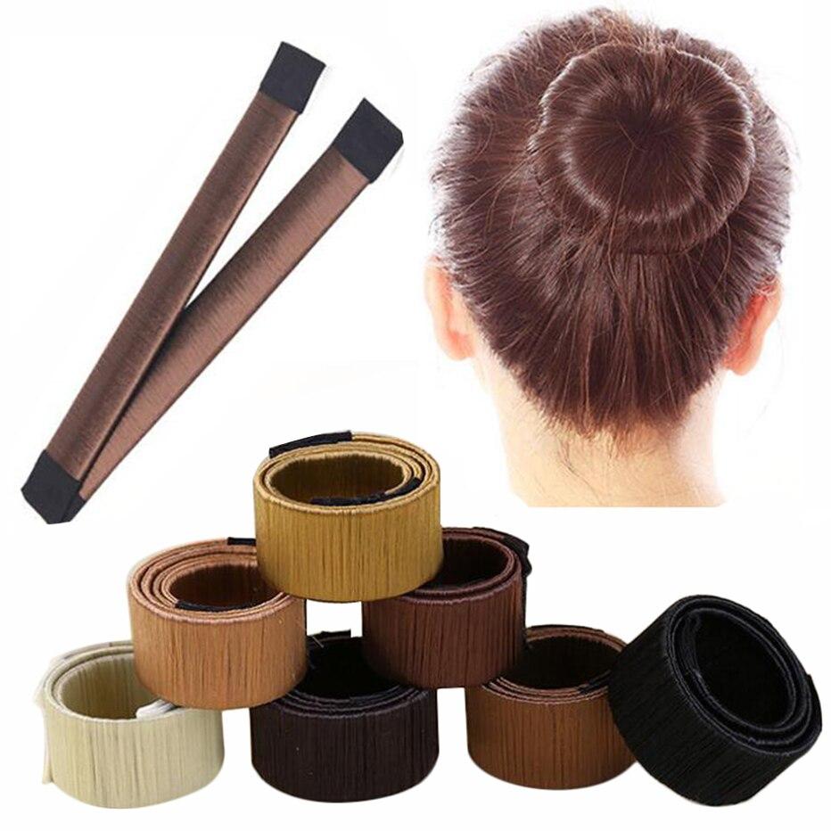 Женская повязка для волос Magic, повязка для волос с синтетическим плетением, простой инструмент для быстрого изготовления пучков