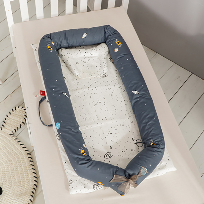 Infant Portable Crib Bed Nest for Newborn baby Crib Sleeping basket  Portable Cot Anti-rollover cotton Cushion