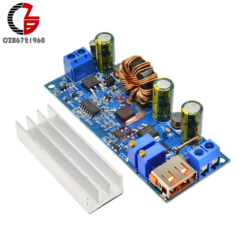 80W CC CV Boost <font><b>Converter</b></font> Module 2-24V to 3-30V Step Up Power Supply Transformer Voltage Regulator 3.3V <font><b>5V</b></font> 6V <font><b>12V</b></font> 24V with USB image