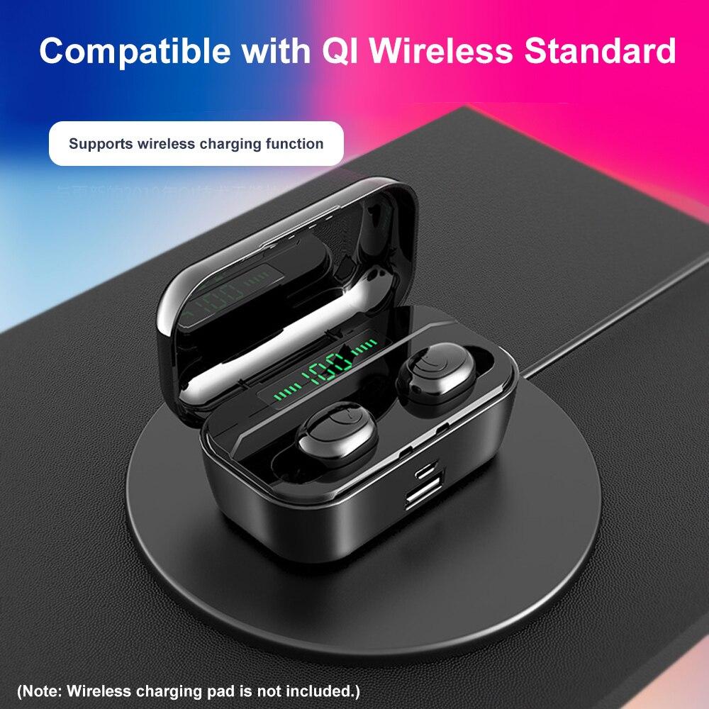 True Wireless Earphone Bluetooth 5.0 Headphones Mini TWS Earphone In-ear Music Headset Charging Box Hands-free with Mic