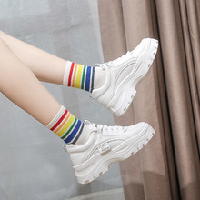 Spring/Autumn New Platform Shoes Women Pu Leathers Fashion Sneakers Women Low-cut Lace-up Off White Shoes Brand Ladies Shoes