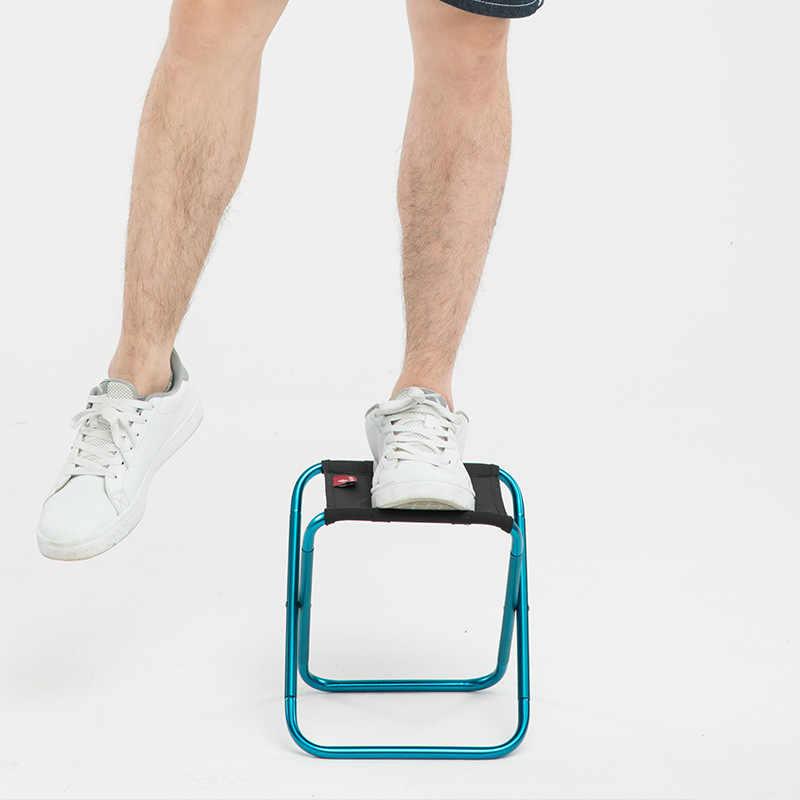 Katlanır küçük dışkı tezgah tabure taşınabilir açık Mare Ultra hafif metro tren seyahat sandalye