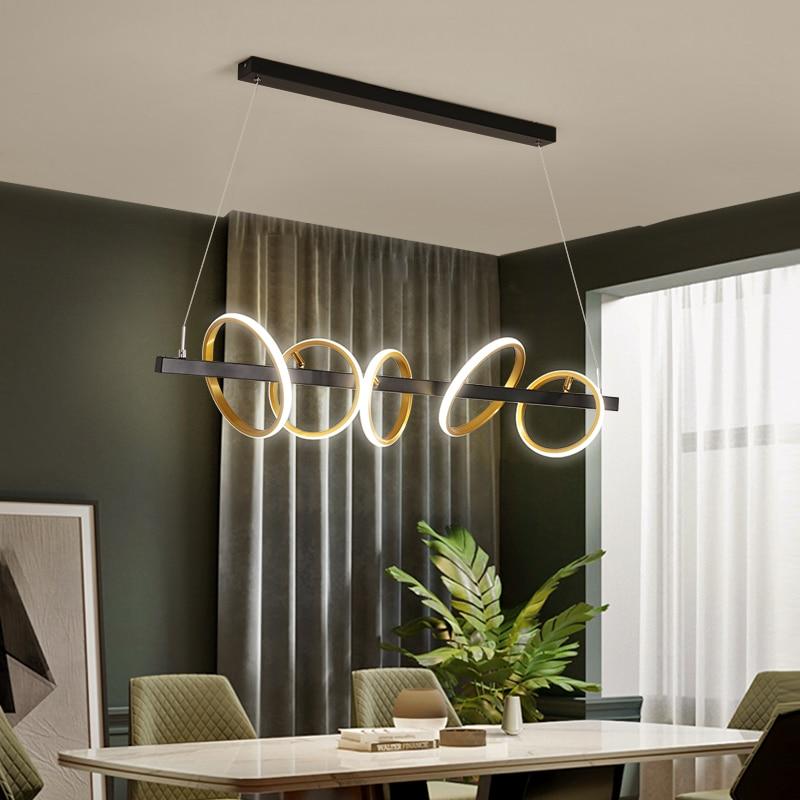 TRAZOS золотой черный скандинавский подвесной светильник, обеденный Настольный светильник, светодиодный светильник для кухни, современный пр
