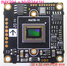 "32x32mm AHD H (1080P) 1/2.8 ""Sony Exmor STARVIS CMOS IMX291 + NVP2441 CCTV 카메라 모듈 PCB 보드 (UTC)"