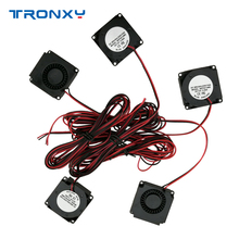 цена на Tronxy 3D Printer part Fan 4010 Blower 12V 0.09A Exhaust Brushless DC Cooler Small Cooling Fan Part Accessories 40x40x10mm