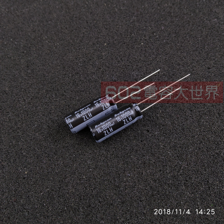 20PCS NEW RUBYCON ZLH 16V1000UF 8x20mm 105 Degrees 1000UF/16V High Frequency Low Resistance And Long Life Zlh1000uf 16V