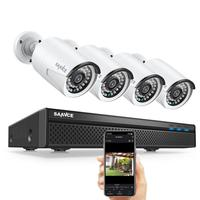 8ch 5MP POE كيت H.264 + NVR CCTV نظام الأمن في الهواء الطلق للماء 2MP IR IP كاميرا مع Mic الصوت سجل مراقبة SANNCE
