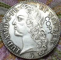 Monedas de copia Tournois de 3 libras de 1764 Franc
