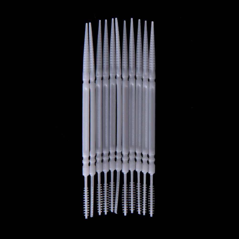 150 pièces propre dent soie Double tête hygiène dentaire en plastique interdentaire brosse cure-dents soins de santé