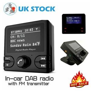 Image 4 - Mini DAB dijital radyo alıcısı Bluetooth MP3 müzik çalar FM verici adaptörü için renkli LCD ekran araba aksesuarları