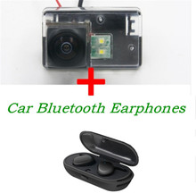 Reverse 1080P Car Rear view Camera for Peugeot 206 207 306 307 Sedan 308 406 407 5008 with HD Stereo TWS Bluetooth Earphones
