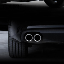 high quality Stainless Steel Car Rear Tail Throat matte Trim For VW Golf 7 GOLF 6 golf mk7 1.4T Car Accessories oe style stainless steel manual pedal set for vw golf mk7