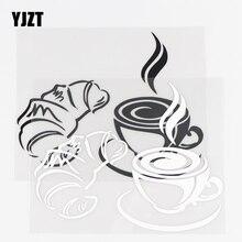 YJZT 15.1×12CM Creative Car Stickers Coffee Art Vinyl Decals Perssonality Body Decor Black / Silver 10A 0790