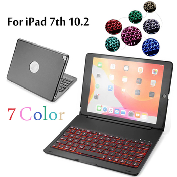 Case For iPad 10.2 inch 7 Colors Backlit Light Wireless Bluetooth Keyboard Case Cover For iPad 7th Gen