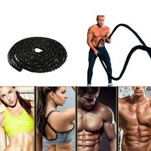 nylon covered 3 8cmx9 meter 1 5x30 combat rope muscle power training rope tug of war rope Power Jump Rope Fitness Heavy Rope Crossfit Weighted Battle Skipping Ropes Training Improve Strength Building Muscle Fitness HWC