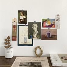 Decoration Postcard Photo-Props Painting-Series Retro Nordic Creative Famous Diy Ins