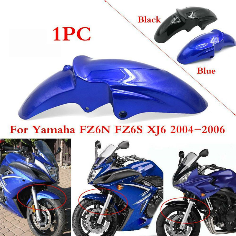FZ6N FZ6S XJ6 04-06 Front Fender Mudguard Mudflap Splash Protector Mud Guard Tire Cover For Yamaha FZ6 N/S XJ6 2004 2005 2006