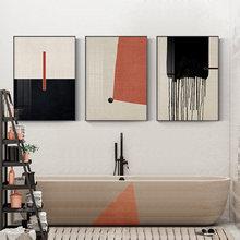 Красочные геометрические абстрактные картины современный холст