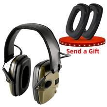 Earmuffs tiro eletrônico tático esportes ao ar livre anti-ruído som amplificação de proteção auditiva fones de ouvido cabeças táticas