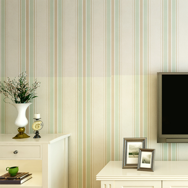Modern Minimalist Stripes Non-woven Wallpaper Hipster Lines Bedroom Living Room GIRL'S Room Wall-to-Wall Wallpaper Wholesale