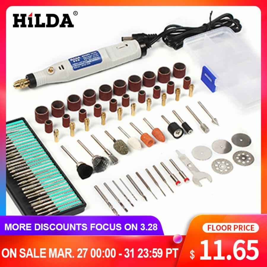HILDA 18V Engraving Pen Mini Drill Rotary tool With Grinding Accessories Set Multifunction Mini Engraving Pen For Dremel tools