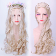 цена на Anime Princess Queen Cosplay Wigs Daenerys Cosplay Wigs Synthetic Wig Hair Halloween Party Women Cosplay Wigs