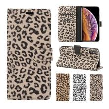 Для iPhone 11 Pro 8 Plus 7 Чехол кожаный Леопардовый флип-чехол для книги Роскошный чехол-кошелек для iPhone 8 Plus X XS Max XR 6 S 6 S Plus чехол