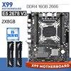 Kllisre X99 האם סט עם Xeon E5 2678 V3 LGA2011 3 מעבד 2pcs X 8GB = 16GB 2666MHz DDR4 זיכרון