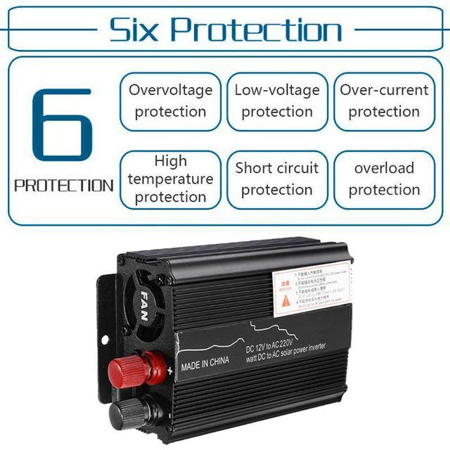 Solar Car Inverter DC12V to AC220V 3000/3500/4000/5000/6000W Max Modified Sine Wave Power Inverter Voltage Transformer Converter 4