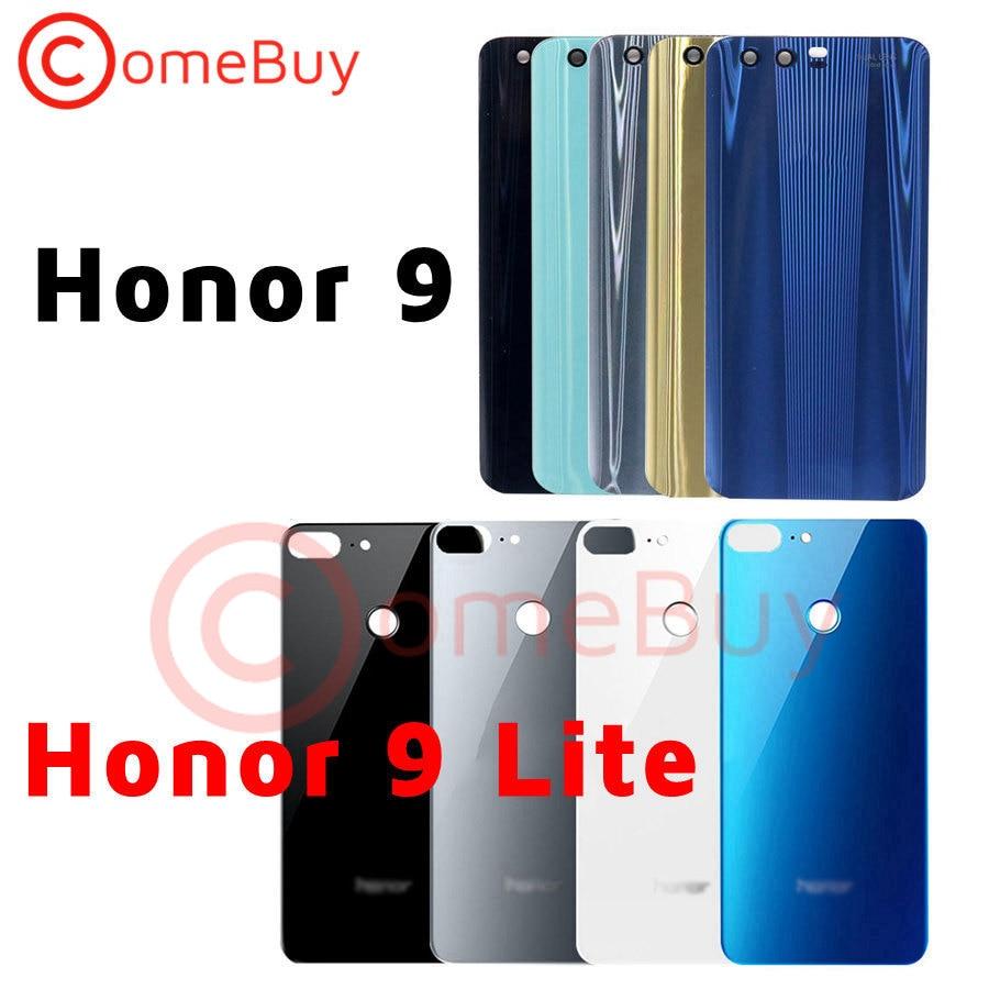Для Huawei Honor 9 Задняя крышка батареи стеклянная крышка задняя крышка корпуса Корпус панель для Honor 9 Lite Крышка батарейного отсека мобильный те...