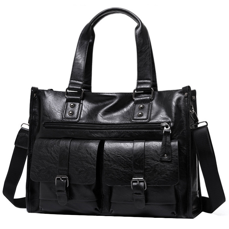 1PCS  Men's One-shoulder Bag Men's Stiletto Bag Fashion Casual Leather Bag Handbag Travel Bag Men Bag