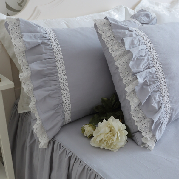 Europe Luxury Cake Layers Ruffle Pillowcase Handmade Wrinkle Elegant Pillow Cases Pillow Cover Bownot Sweet Princess