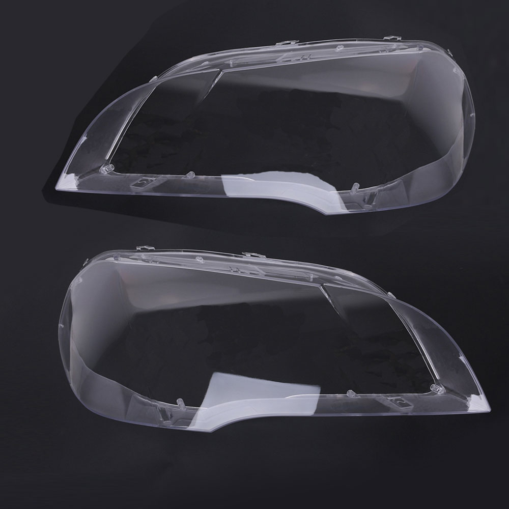 Left Right Car Clear Headlight Lens Cover Replacement Headlight Replacement For BMW X5 E70 2008-2013 Car Front Lamp Shell Cover