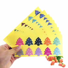 100pcs/pack Multicolor Star Tree Sealing Sticker Baking DIY Work Gift Cake Packaging Label Stickers