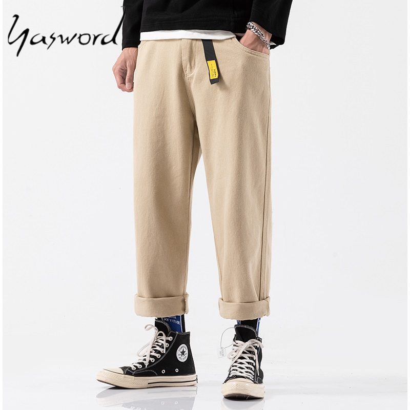Yasword Casual Pants Men Harem  Jogger Pants Men Fitness Trousers Male Harajuku Men Loose Cotton Pants Trousers Breathing Pant