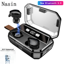 Nasin x12 8000mAh TWS 9D Stereo Hifi Bluetooth 5.0 Earphones LED Display IPX7 Waterproof Wireless Headsets With Mic for Xiaomi