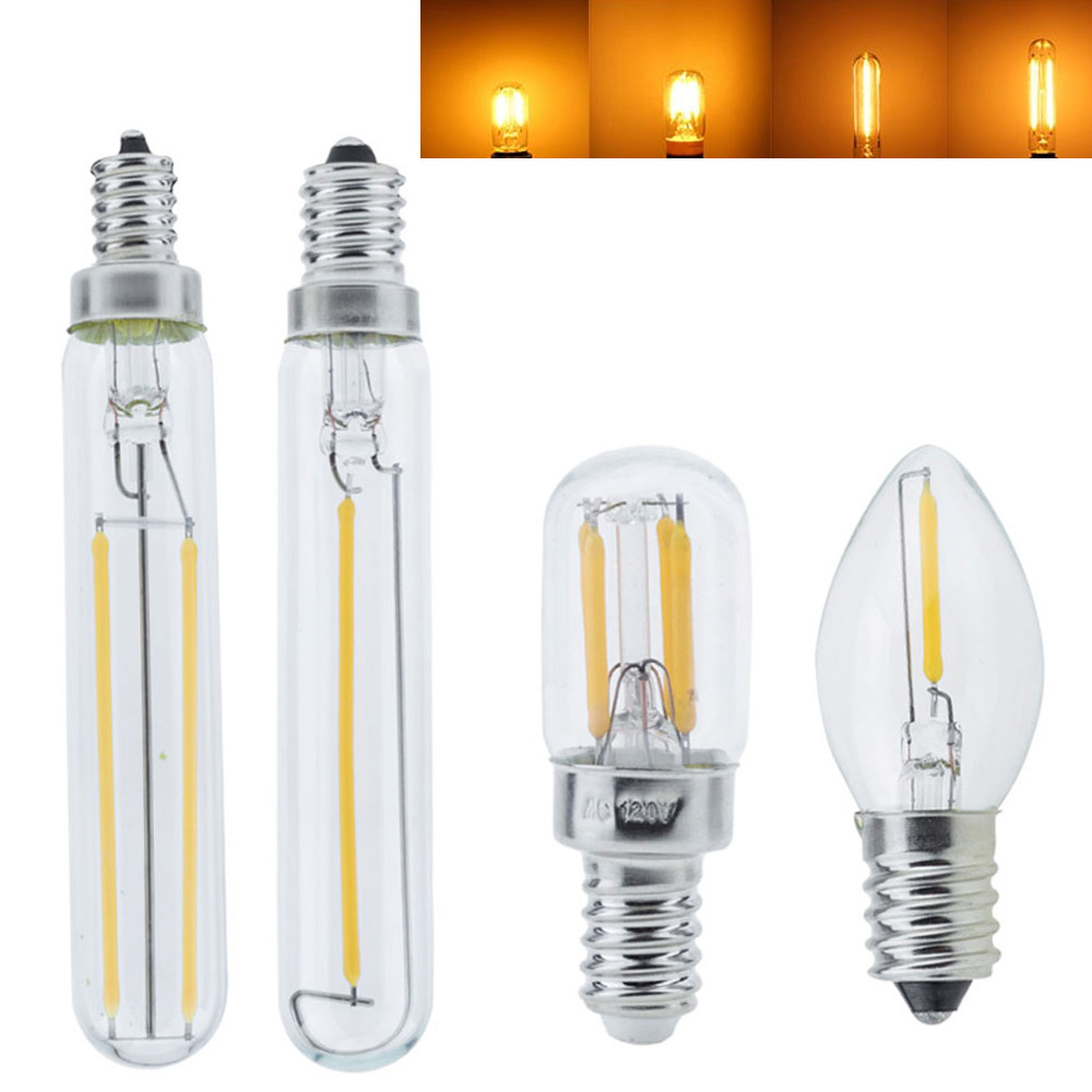 Dimmable C7 T20 E14 Led Bulb E12 110V 220V 0.5W 1W 2W LED Lamp LED Edison Filament Night Light Chandelier LED Bulbs For Home