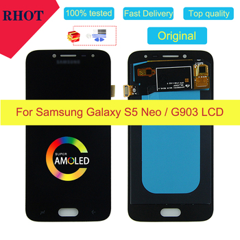 "100% tested original 5.1"" AMOLED S5 Neo LCD screen for Samsung Galaxy S5 NEO SM-G903M G903 G903F G903M touch screen assembly image"